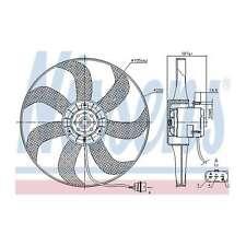 Fits VW Golf MK4 1.4 16V Genuine OE Quality Nissens Engine Cooling Radiator Fan