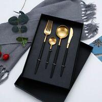 4pcs Cutlery Set Stainless Steel Dinnerware Dinner Spoon Fork Knife Coffee Spoon