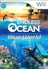 ENDLESS OCEAN BLUE WORLD Nintendo Wii Game - Wii Speak Mic Included