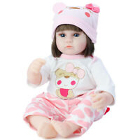 Lifelike Newborn Reborn Baby Handmade Doll Silicone Vinyl Baby Girl Doll