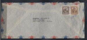 VENEZUELA Censored Cover Caracas to New York City 1945 Cancel