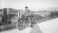 Moto NORTON c. 1930 - Grand Négatif - FD 245