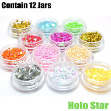 KLEANCOLOR 3D NAIL ART HOLO STAR DECORATION PROFESSIONAL GLITTER NA312A