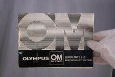 Olympus Camera OM System Quick Auto 310 Instruction Guide (EN) Flash