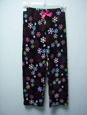 Faded Glory Girls Snow Flakes Black Sleep Lounge Pajama Pants M 7 / 8 NEW