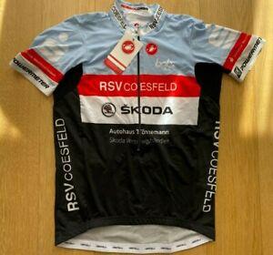 Brand New Original CASTELLI ROSSOCORSA AERO RACE ŠKODA CYCLING Jersey 2XL