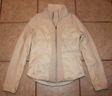 Lululemon Womens Size 6 Fleece Lined Off White Fur Lined Sleeves Jacket