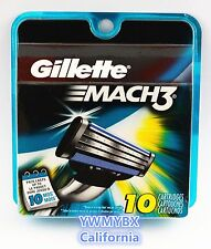 GILLETTE MACH3 Razor Blades,10 Cartridges,Original package,Brand New, #014A