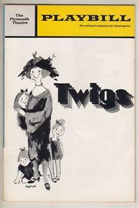 "Sada Thompson Playbill  ""Twigs"" 1972  Michael Bennett  Sondheim Incidental Music"