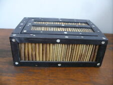 OLD ANTIQUE PORCUPINE QUILL BOX  INLAID JEWELLERY