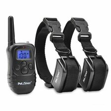 Petrainer Rechargeable Dog Training Shock Collar Remote E-Collar for 2 Dogs