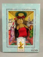 Classic Pooh Gund Christmas Ornament Plush Miniature Bear New in Box 1990s