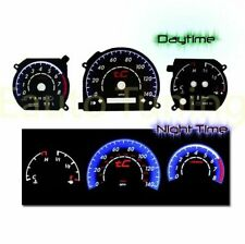 BLACK Indiglo El Gauges Kit Glow BLUE Reverse for 05-09 Scion TC 2.4L AT ONLY
