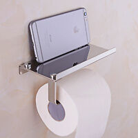 Wall Mounted Paper Roll Towel Holder Stainless Steel Bathroom Toilet Tissue Box