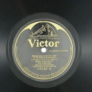 VIRGINIANS Whose Izzy Is He/Scissor Grinder Joe 10IN 1924 JAZZ DANCE BAND NM-