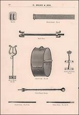 DRUM PARTS, SNARES, CASE, STICK, ROD, MUSIC RACK, scarce catalog pg. 1895