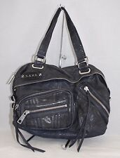 L.A.M.B. Women's Blue Leather Handbag/Shoulderbag