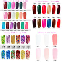 7ml Nail Art Gel Nail Polish Soak-off UV/LED Manicure Varnish Top Base Coat Set