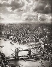 1934 Vintage LONDON Tower Bridge Architecture By ALFRED BUCKHAM Photo Art 11x14