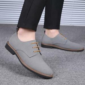 Mens Retro  Business Leisure Faux Leather Shoes Round Toe Oxfords Lace Up Shoes