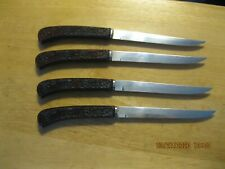 """New listing 4- """"Imperial""""Steak Knives, Stainless Steel, Made in Usa. 81/2ins long."""