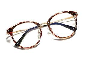 Looking Forward Leopard Round Blue Light Blocking Glasses Computer Eyewear