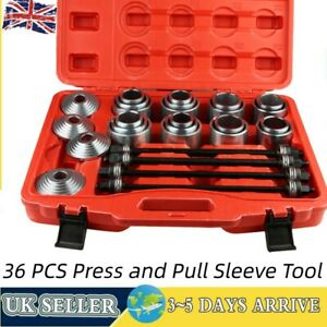 Universal Press And Pull Sleeve Kit Bush & Bearing Removal Set 36PC Carbon Steel