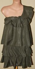 Womens Khaki Tiered Dress BNWT $220 - Mucci & Me - Size 8