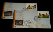 U.N. 2009, GENEVA #500-501, WORLD HERITAGE,GERMANY SINGLES ON FDCs,,NICE! LQQK!
