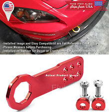 Aluminum Anodized Billet Red Front Bumper Tow Hook Towing For Ford Chevy Dodge