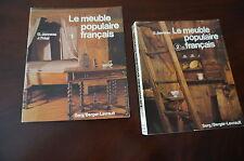 LE MEUBLE  POPULAIRE FRANCAIS en 2 volumes/1980 -edition berger levrault