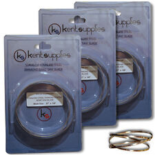 """KENT LOT of 3 BLADES, 37"""" REPLACEMENT DIAMOND BAND SAW BLADE"""