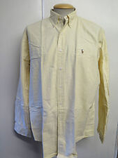 "Ralph Lauren POLO men's Yellow Long Sleeved Casual Shirt L 42- 46"" Euro 52-54"