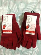 New Radio Shack Whole Hand Touch Screen Gloves Women Red M/L Medium Large
