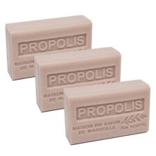French Soap -Traditional Savon de Marseille - 3 x 125g - Propolis - Shea Butter