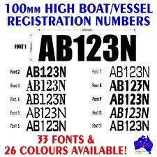 JETSKI,PWC,WAVERUNNER REGISTRATION rego numbers.2x100mm marine decals stickers!