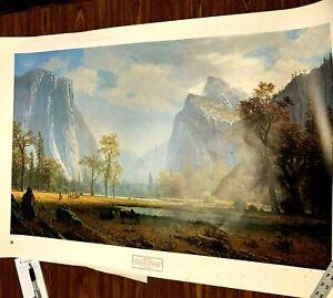 """Albert Bierstadt Looking Up The Yosemite Valley Poster 1978 22 1/4"""" x 36"""""""