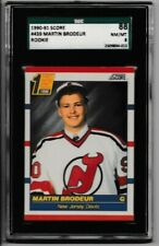 1990-91 Score Martin Brodeur RC #439 SGC 8 New Jersey Devils