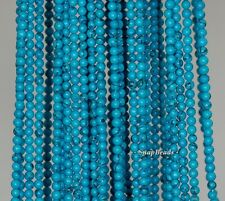 2MM TURQUOISE GEMSTONE TURQUOISE BLUE ROUND 2MM LOOSE BEADS 16""
