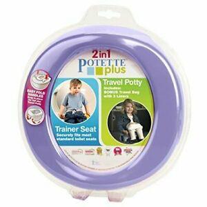 Kalencom Potette Plus 2-in-1 Travel Potty Trainer Seat Lilac
