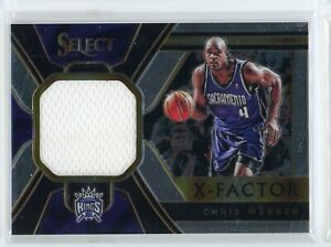 2018-19 Chris Webber Jersey Panini Select X-Factor