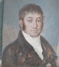 English England Miniature Painting Portrait of a Man ca. 18-19th century