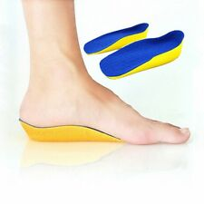 1 Pair Height Increasing Heel Lift Half Insoles In Sock Pad 2cm High Blue
