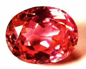 62.75 Cts Natural Cubic Zircon Pink Color Oval Shape Certified Loose Gemstone