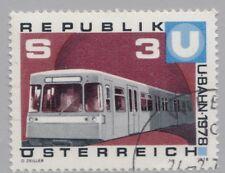 Österreich 1567 Inbetriebnahme 1. Teilstück U-Bahn Wien, U-Bahnzug - 1978 °