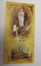 Our Lady of Lourdes Scalloped Prayer Card, from Lourdes New (4)
