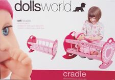 NEW Dolls World Wooden Cradle from Mr Toys