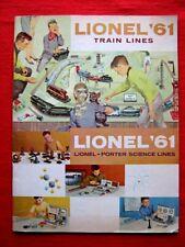 1961 LIONEL TRAINS ACCESSORY CATALOG PORTER SCIENCE INSTRUCTION MANUAL BOOK