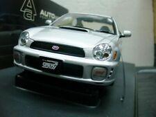 WOW EXTREMELY RARE Subaru Impreza WRX STi 2001 RHD Silver 1:18 Auto Art-WRC/2006