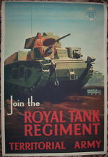 WW2 British Royal Tank Regiment Army poster